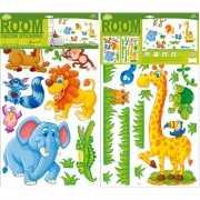 Muur deco stickers safari 27 stuks