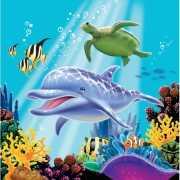 Servetjes met oceaan afbeeldingen 16 stuks