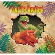 Kinderfeestje dinosaurus uitnodigingen 8 stuks