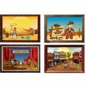 Kinderfeestje western posters