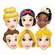 Kartonnen maskers Disney Prinsessen
