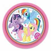 Papieren bordjes My Little Pony feestje