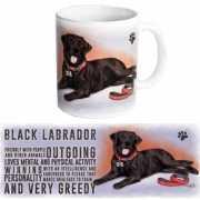 Grote theemok zwarte Labrador