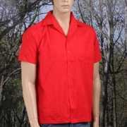 Cotton Rips zomer overhemd heren