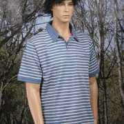 Poloshirt bretonse streep blauw