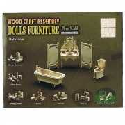 Poppenhuis  badkamer meubeltjes