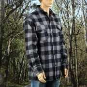 Fleece Houthakkers shirt blauw/kaky