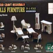 Poppenhuis meubels huiskamer
