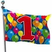 Vlag 1 jaar feestartikelen