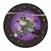 Halloween Heksen feest bordjes 8 stuks