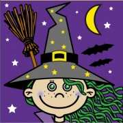 Halloween Heksen servetten