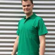 Poloshirt heren grasgroen