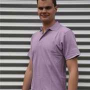 Poloshirt heren lila
