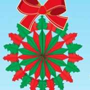 Kerstkrans hangdecoratie 60 cm