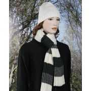 Gestreepte sjaal grijs/wit