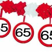 65 jaar slinger met stopborden