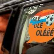 Oranje raamsticker Olé