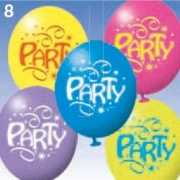 6x Party ballonnen