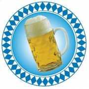 Oktoberfest Ronde versiering bierpul 28 cm