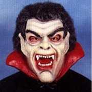 Halloween Latex Dracula masker met haar