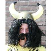 Vikingpruik zwart voor heren