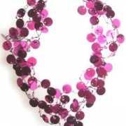 Pailletten ketting roze