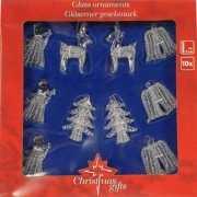 Kerst ornamenten glas 10 delig