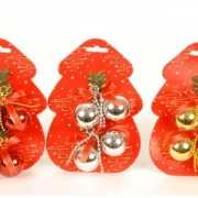 Kleine kerstballetjes 4 stuks