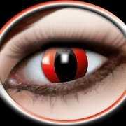 Halloween Party lenzen rode katten ogen