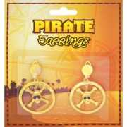 Piraten oorbellen met doodshoofdjes