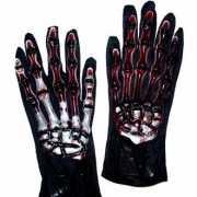 Halloween Skelet handschoenen met bloed