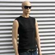 Sleeveless shirt Tarell zwart