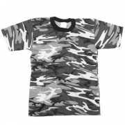 City camouflage t shirt korte mouw
