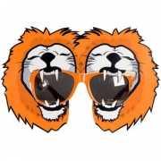 Oranje fun bril met leeuwen