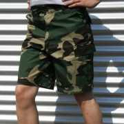 Shorts met camouflage print