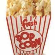 Groot decoratie bord popcorn