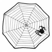Halloween Spinnenweb met spin 40 x 40 cm
