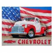 Metalen wandplaat Chevrolet USA