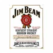 Metalen wandplaat Jim Beam white