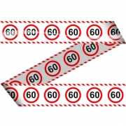 Markeerlint 60 jaar met stop bord
