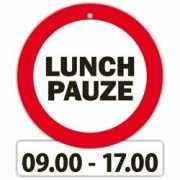 Fun stopbordje Lunch pauze