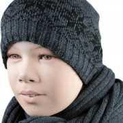 Gevoerde Nordic kindermuts grijs