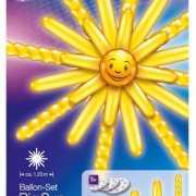 Ballonnen set grote gele zon