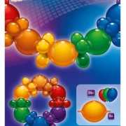 Ballonnen slinger guirlande regenboog