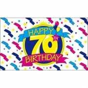 Happy Birthday vlag 70