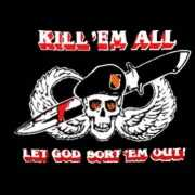 Militaire vlag Kill em all let god sort em out