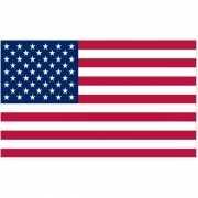 Oude USA vlag met 48 sterren