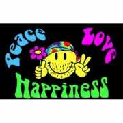 Peace  love  happiness vlag
