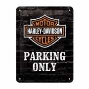 Muurplaatje Harley Davidson parking