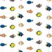 Tropisch deurgordijn met vissen 200 x 90 cm
